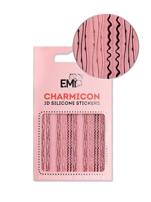 Charmicon 3D Silicone Stickers #122 Lines