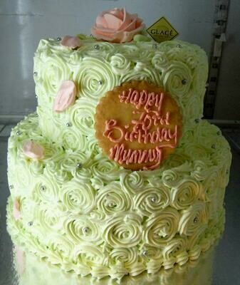 2-Tier Twirly Rose