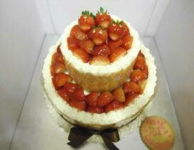 2-Tier Strawberry Souffle (Laughing Strawberries)
