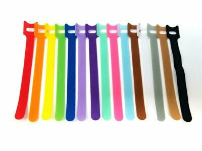 Tag-A-Room Color Coded Reusable Fastening Cable Ties/Organizer, Cable Straps, Hook and Loop Microfiber 6 Inch (60 Count)