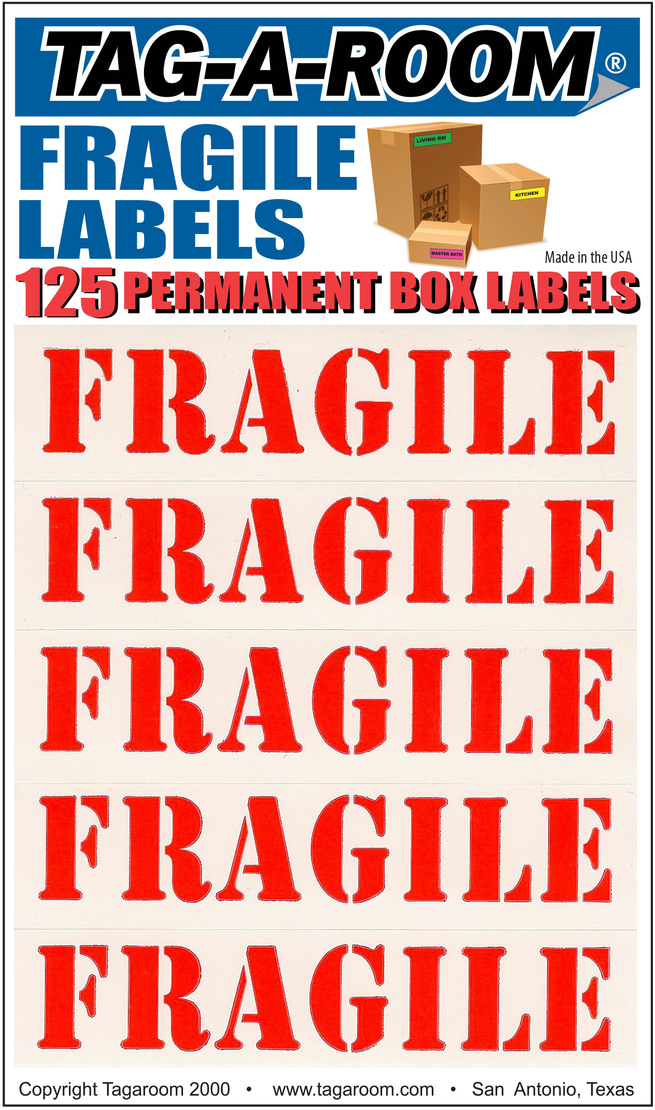 Fragile Labels - 125 Count 011201
