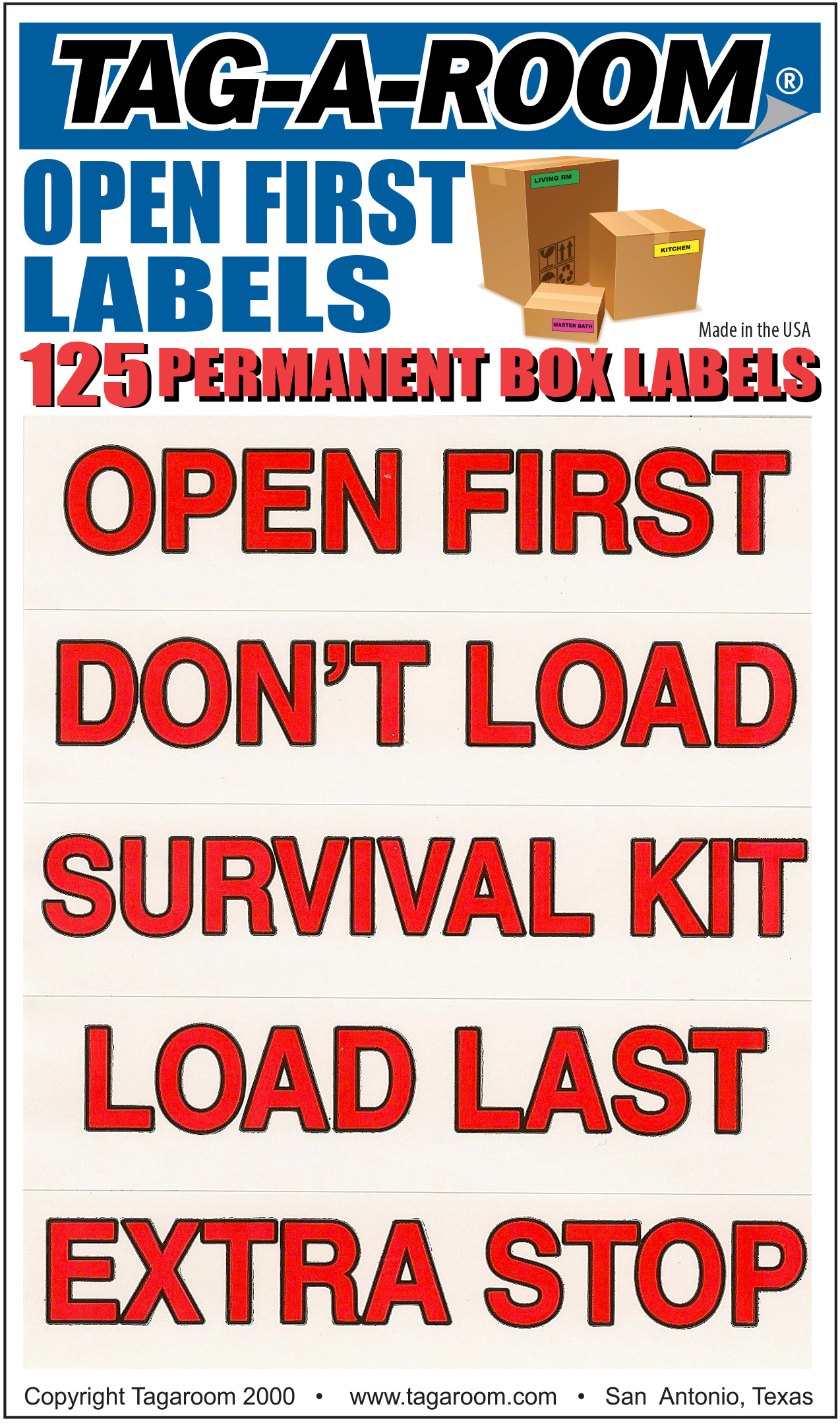 Open First / Don't Load Labels - 125 Count 1401017