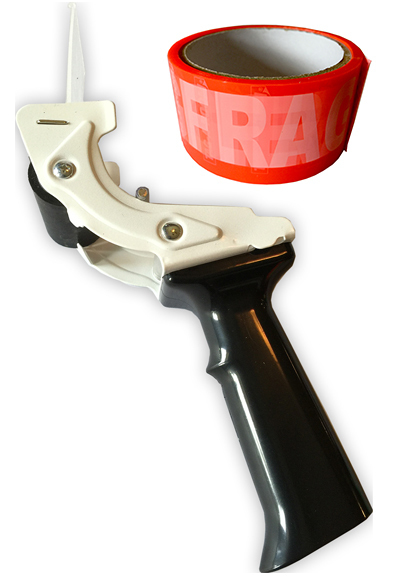 Tag-A-Room® Tape-Gun (Tape Dispenser) with Fragile Tape 695582 - 310038