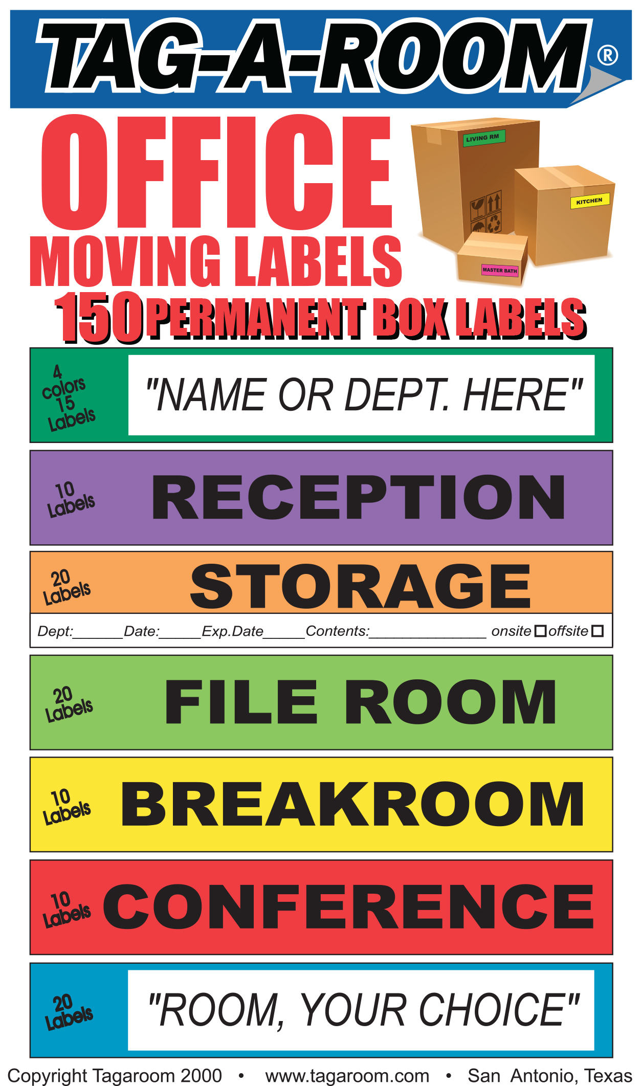 Office Moving Labels 1301003