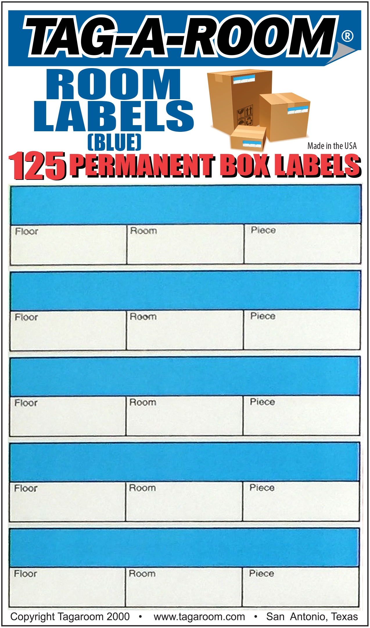 Office - Room Label - Blue - 125 Count 011234