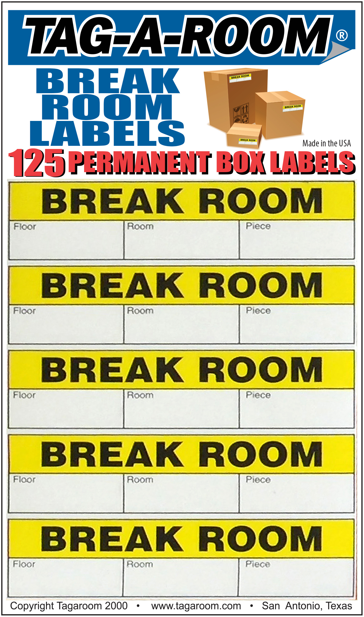 Office - Label - Break Room - 125 Count 011235