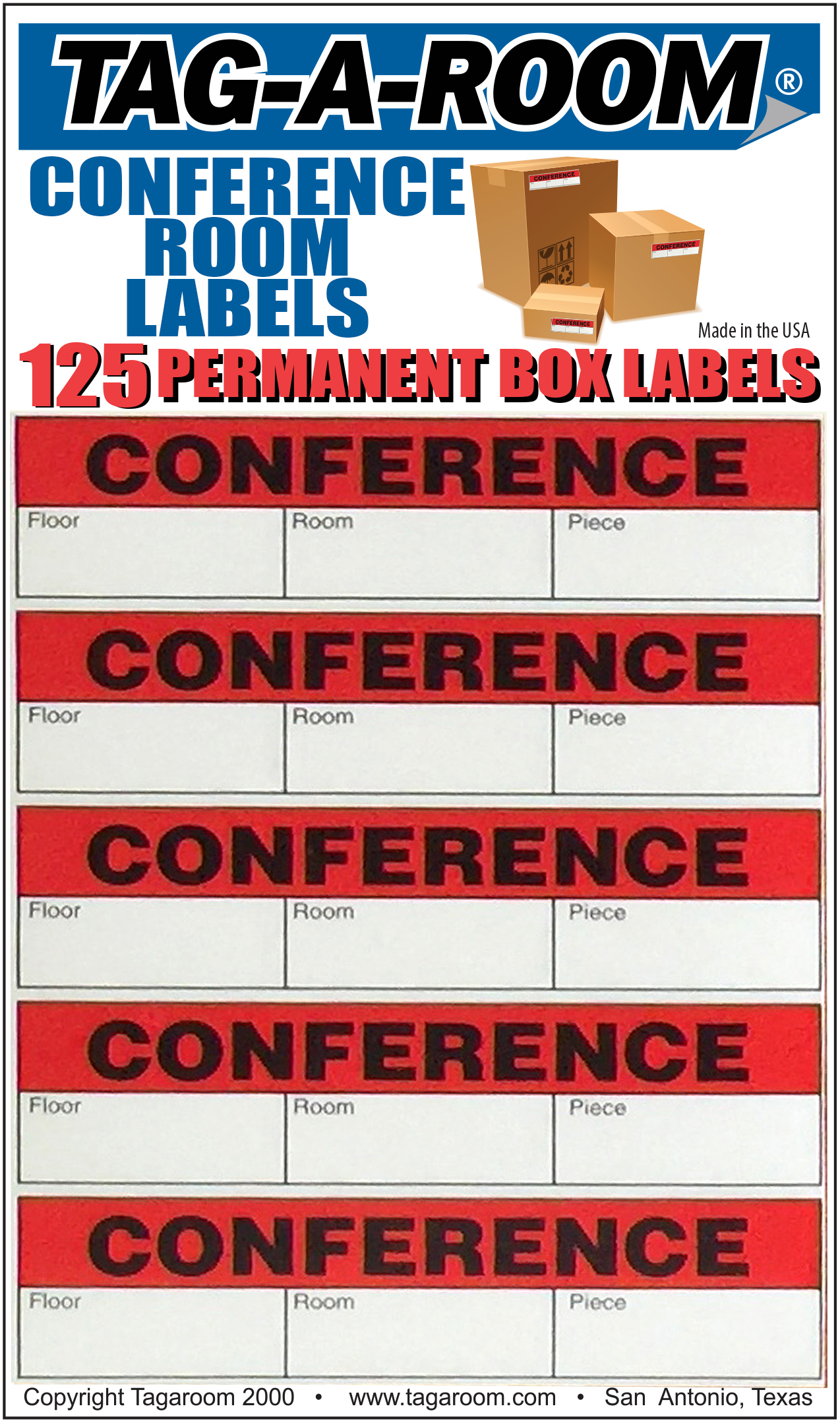 Office - Label - Conference Room - 125 Count 011236