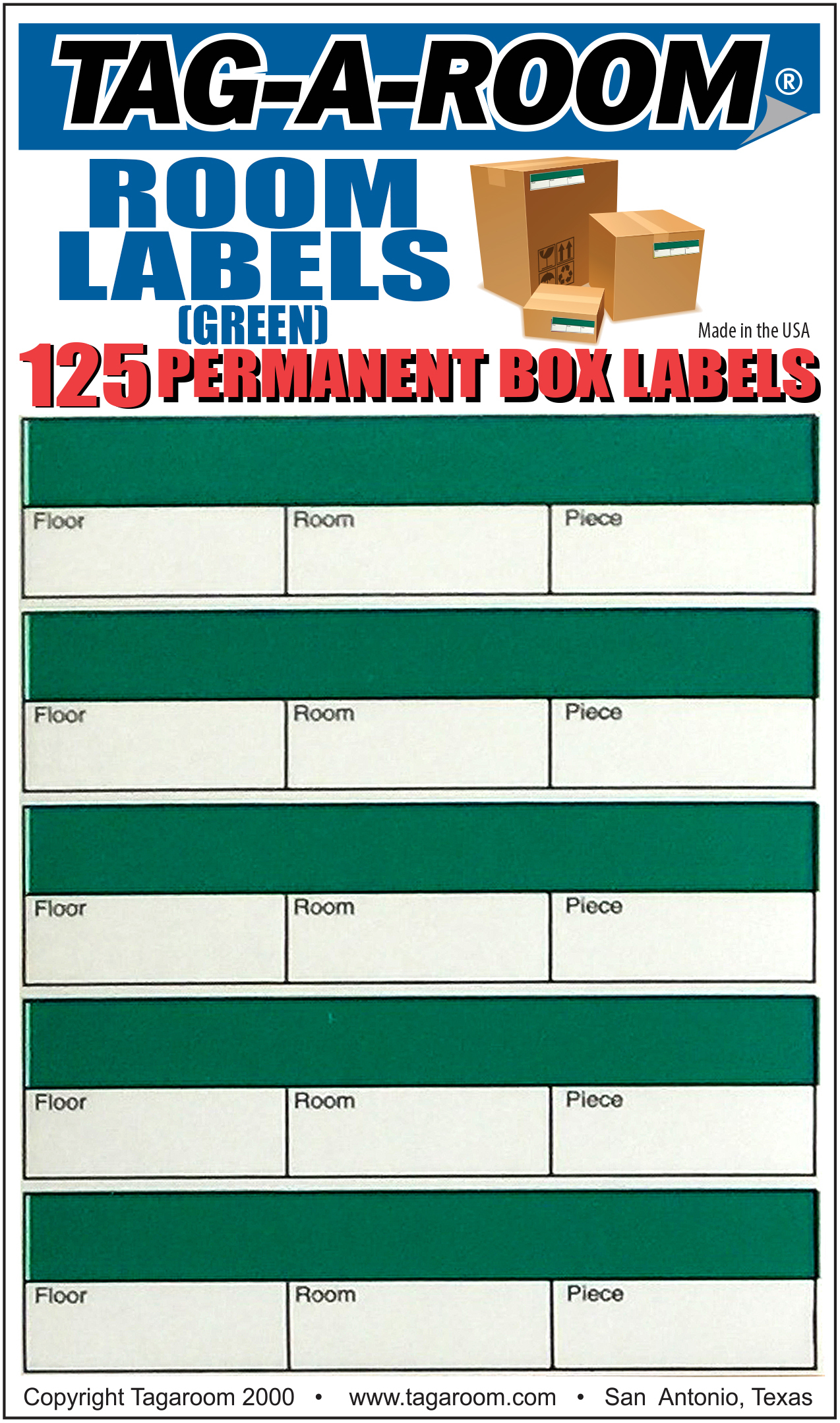 Office - Label - Room - Green - 125 Count 011238