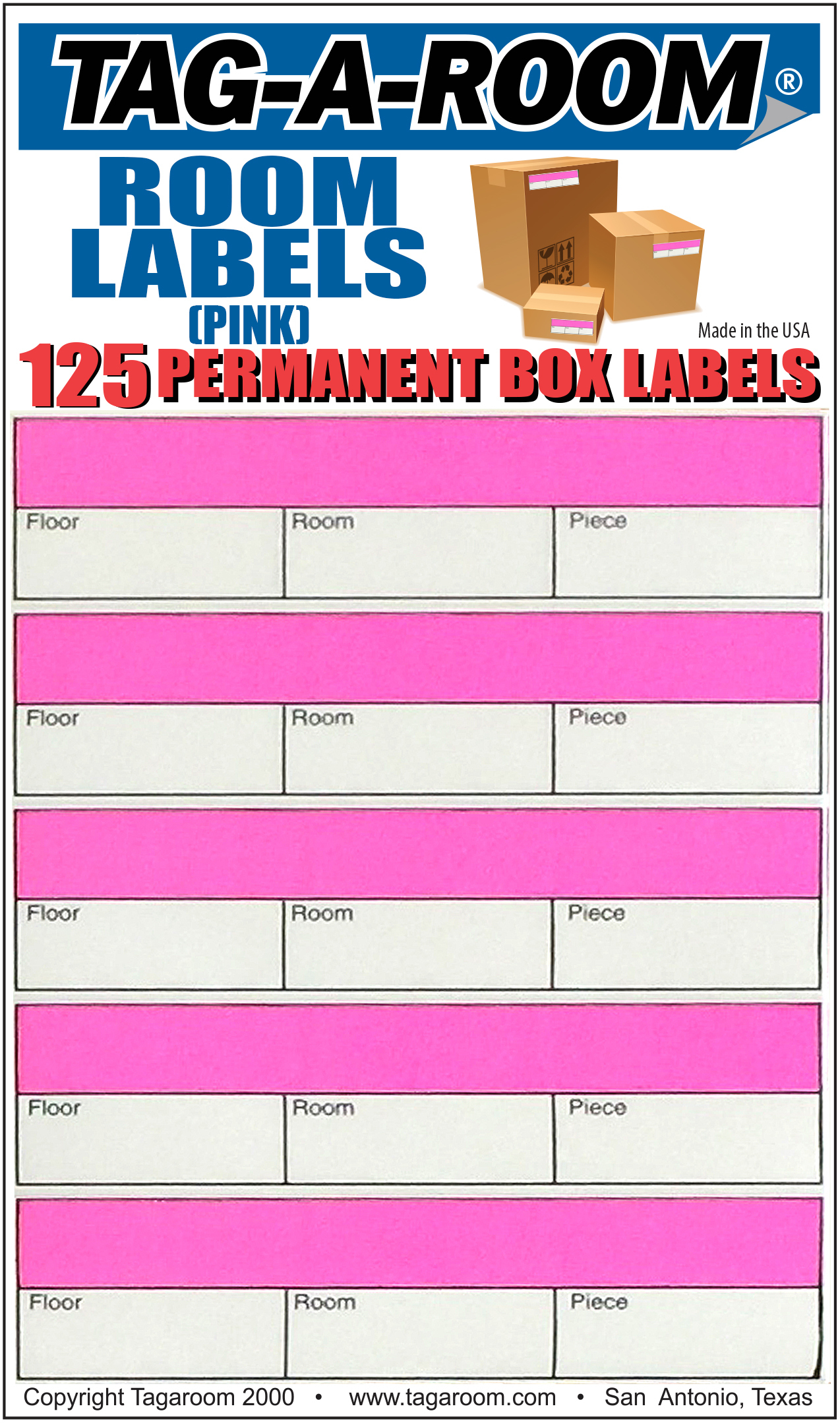 Office - Label - Room - Pink - 125 Count 011239