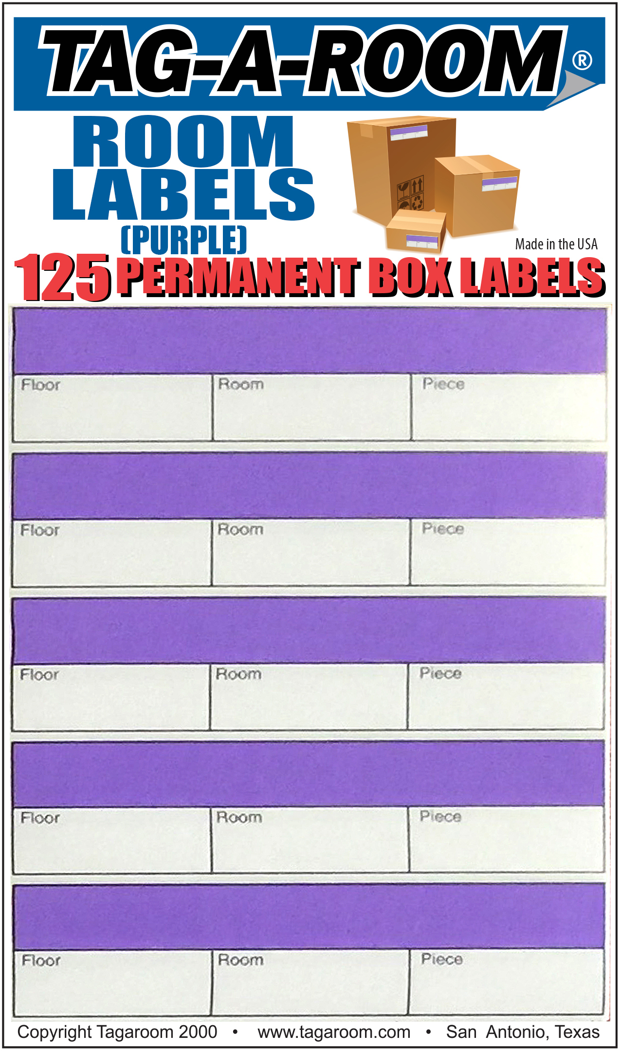Office - Label - Room - Purple - 125 Count 0112310