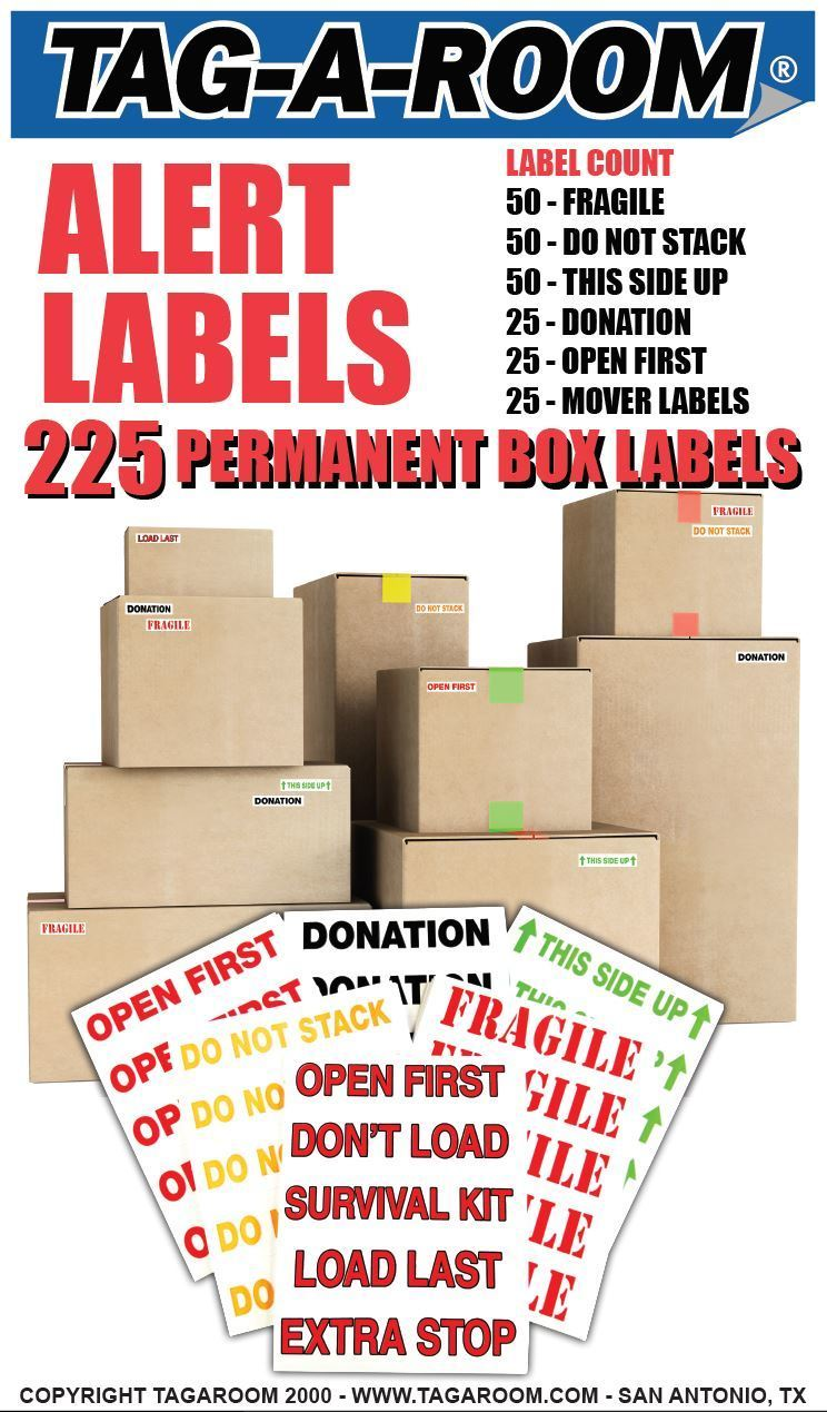 Alert Labels Pack - 225 Count LP-ALERT-2017