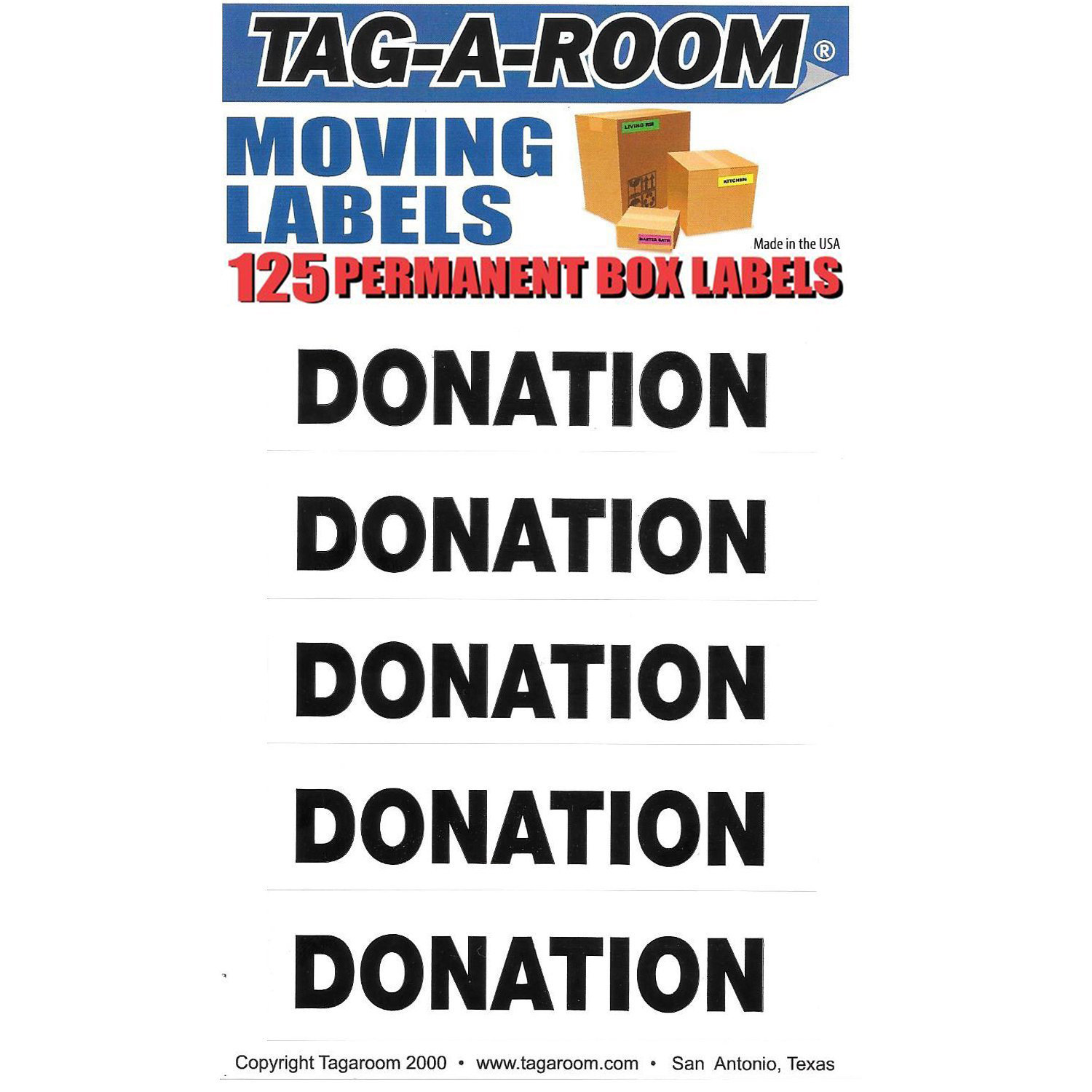 Donation Labels - 125 Count 011539