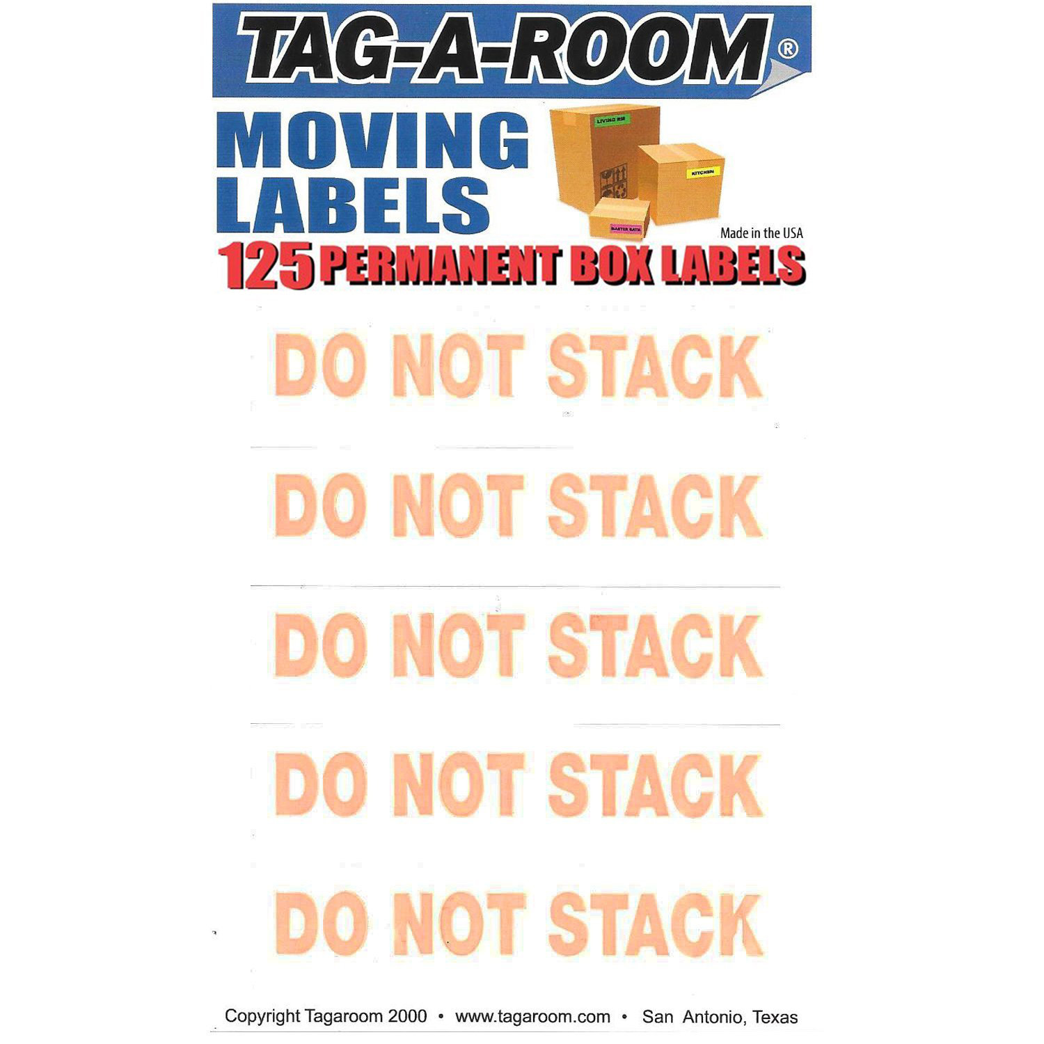 Do Not Stack Labels - 125 Count