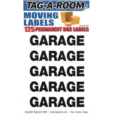 Garage Labels - 125 Count