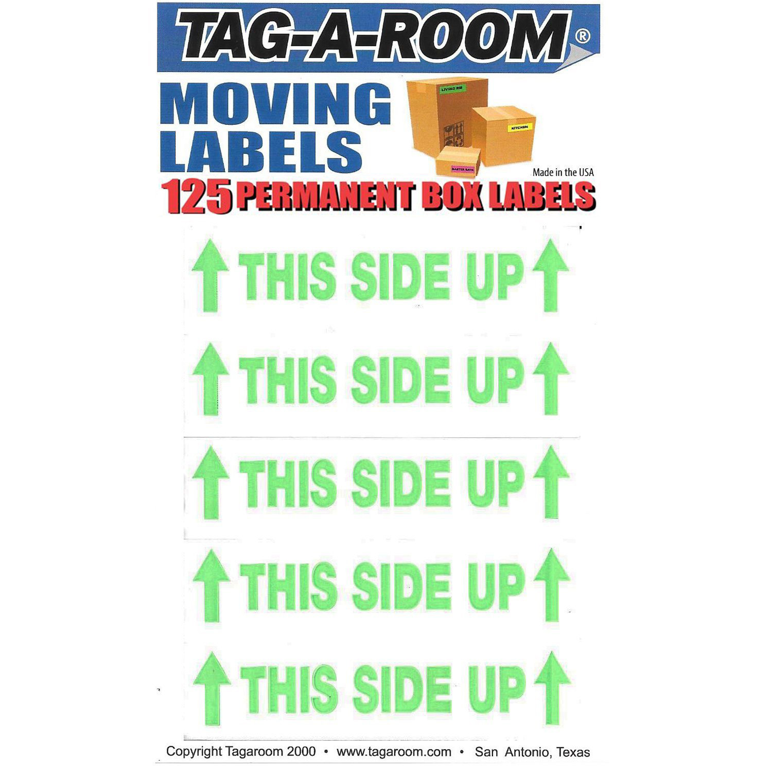 This Side Up Labels - 125 Count