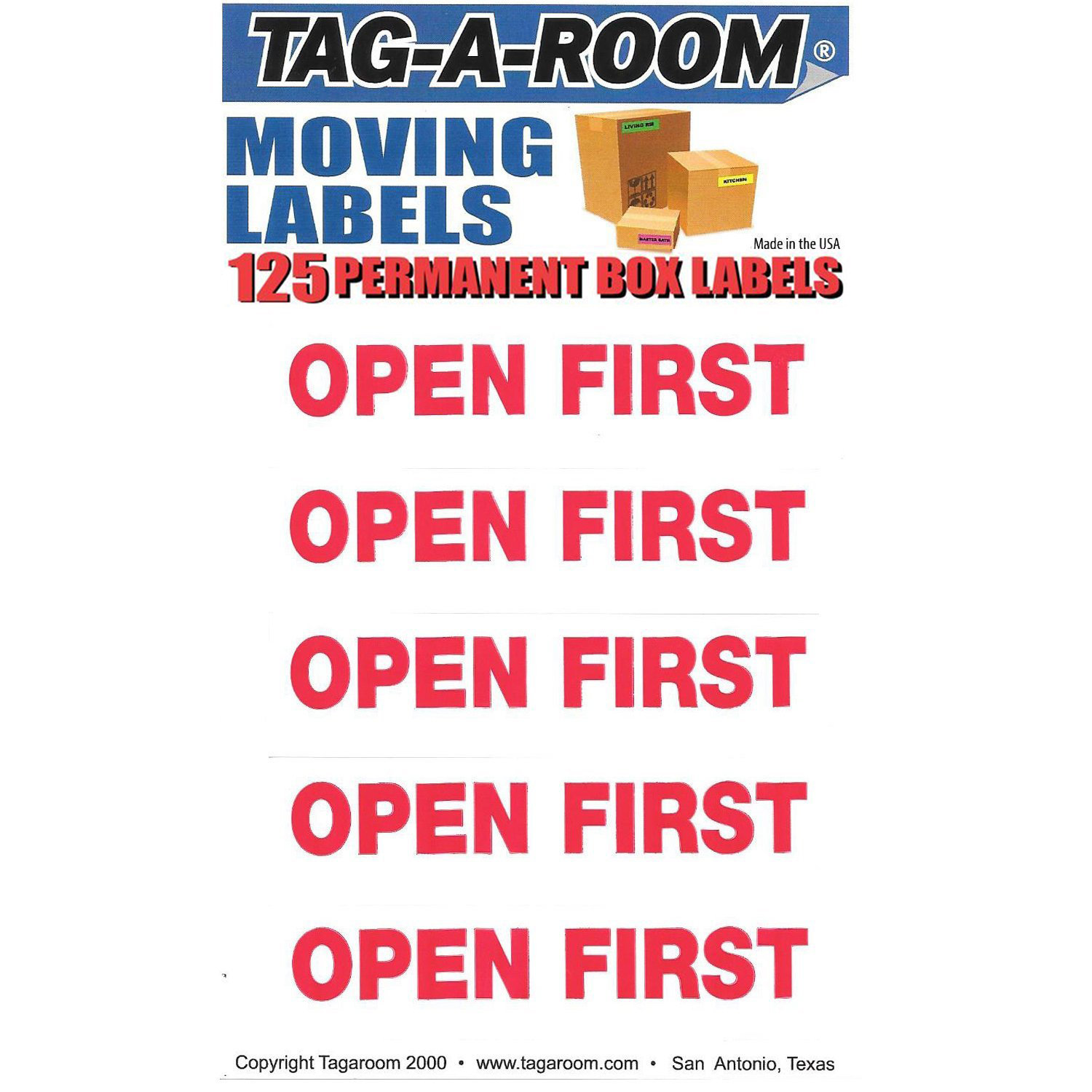 Open First Labels - 125 Count 011546