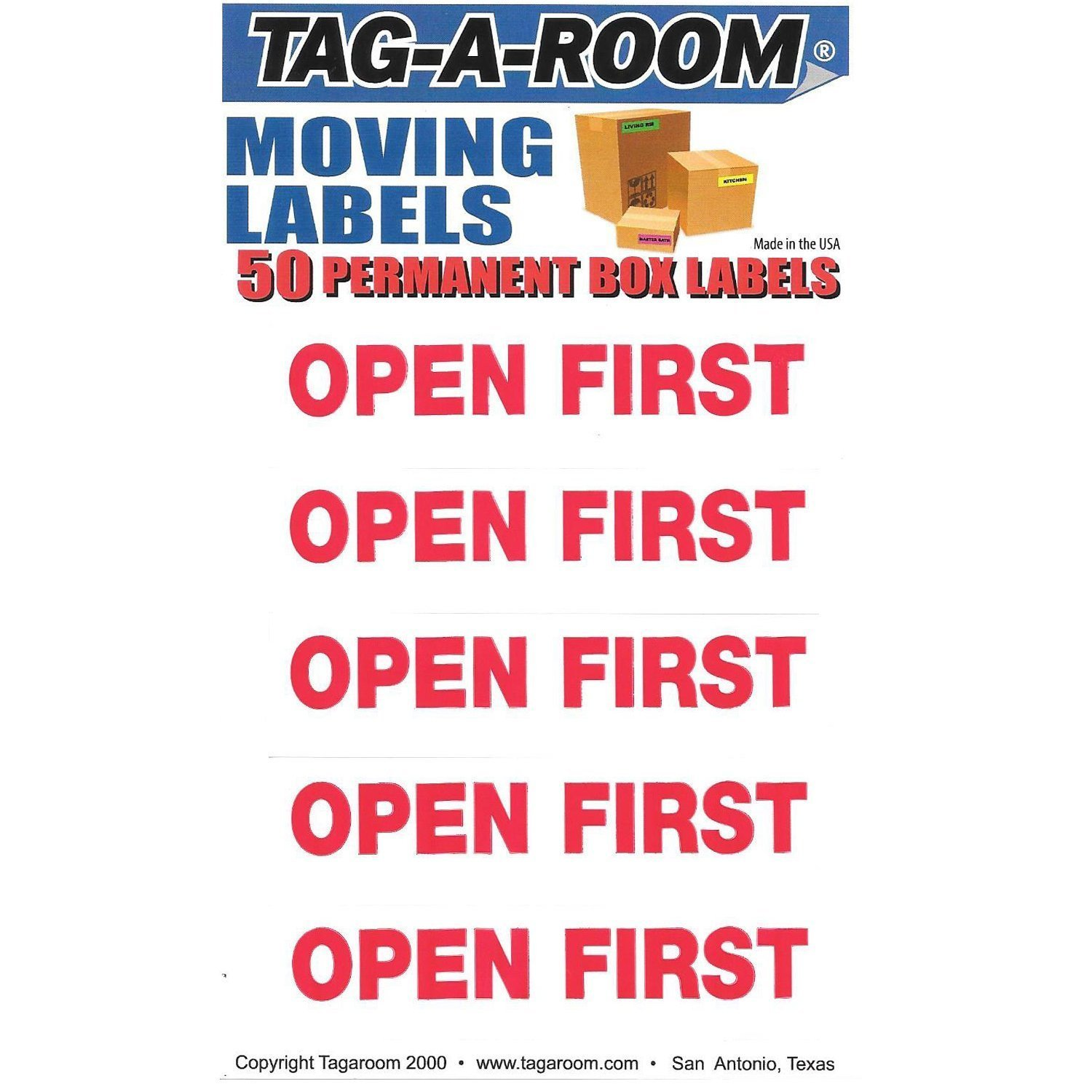Open First Labels - 50 Count 011546-50