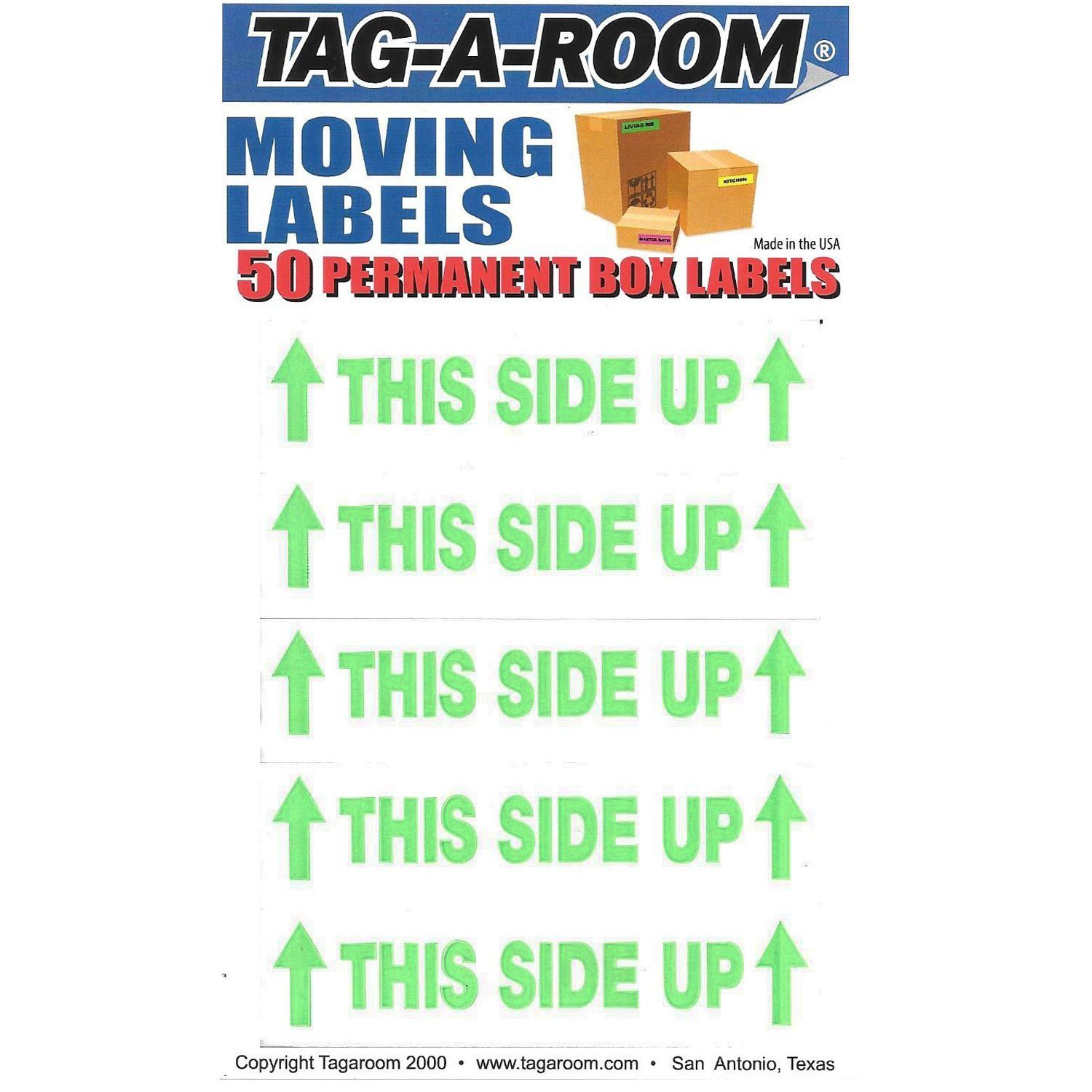 This Side Up Labels - 50 Count 011560-50