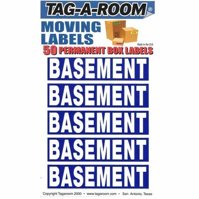 Basement Color Coded Moving Labels (50 Count)