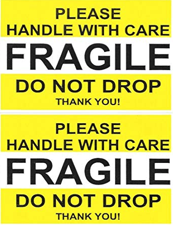 Fragile Stickers 2.5'' x 4'' 250 Labels