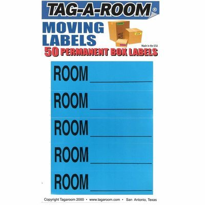Color Coded Moving Box Labels (Room Blank Blue)
