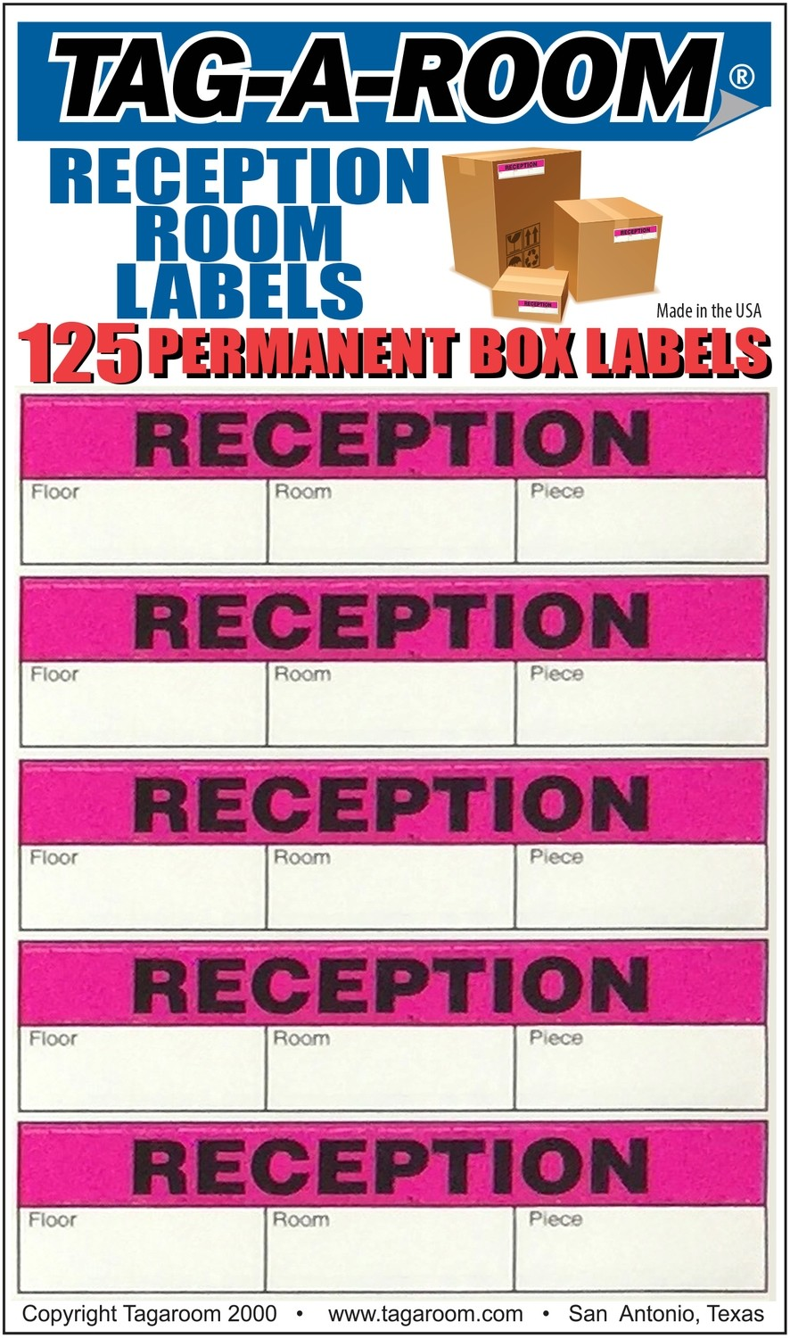 Office - Label - Reception Room - 125 Count