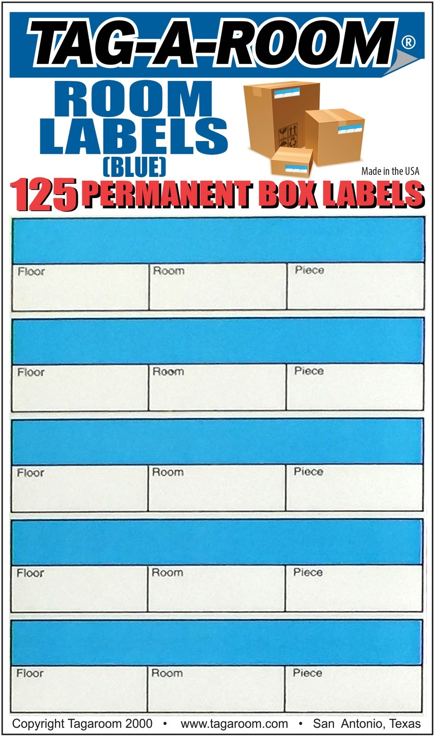Office - Room Label - Blue - 125 Count