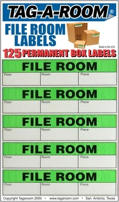 Office - Label - File Room - 125 Count