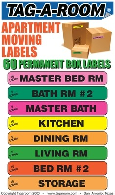 Apartment Moving Labels