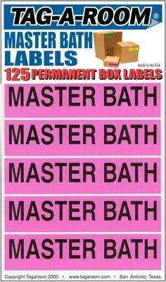 Master Bath Labels - 125 Count