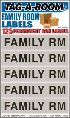 Family Labels - 125 Count
