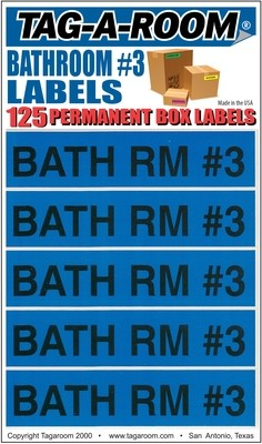 Bathroom #3 Labels - 125 Count