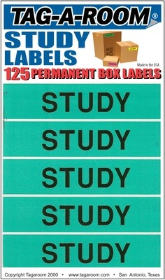 Study Labels - 125 Count