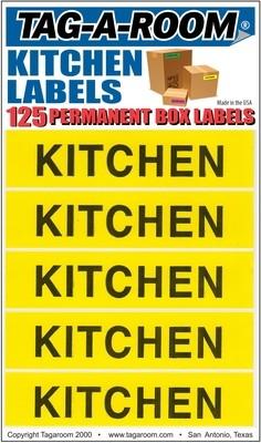 Kitchen Labels - 125 Count