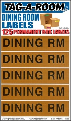 Dining Room Labels - 125 Count