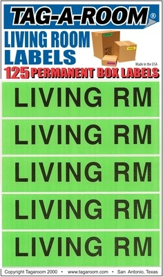 Living Room Labels - 125 Count