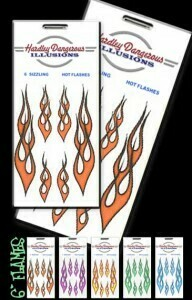 Orange Flame Removable Illusion Stickers