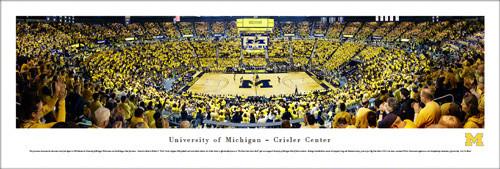 U-M Men's Basketball Panoramic Print