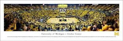 U-M Men's Basketball Panoramic Print