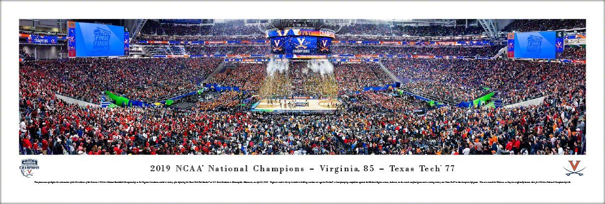 UVA 2019 NCAA National Championship Celebration Panoramic Print 3305
