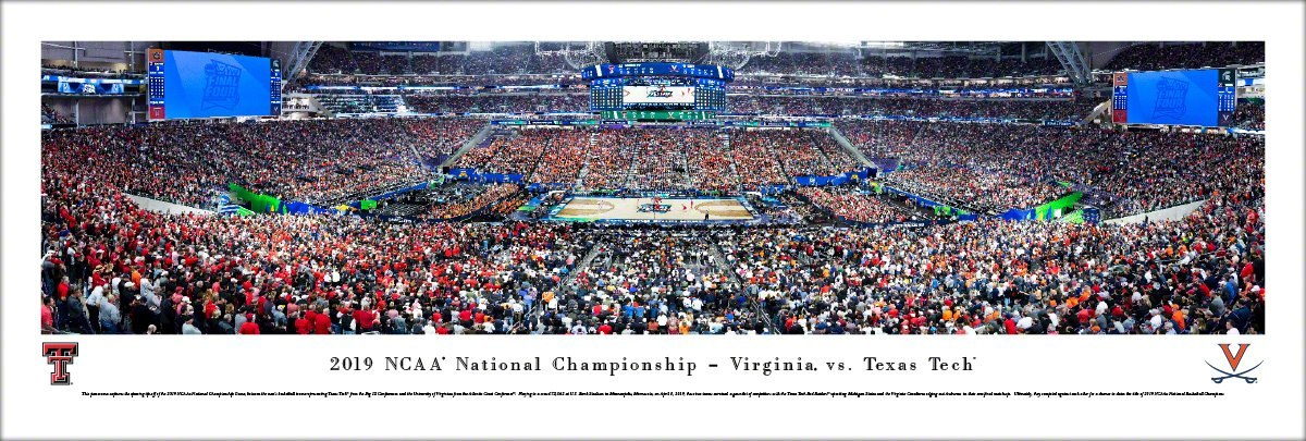 UVA 2019 NCAA National Championship TipOff Panoramic Print 3304