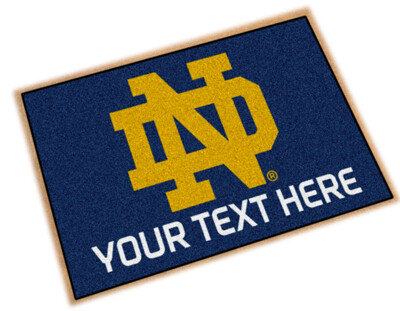 Notre Dame Personalized Starter Mat