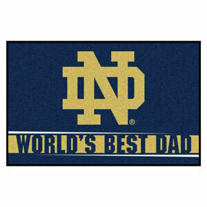 Notre Dame World's Best Dad Mat