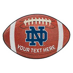 ND Personalized Football Rug