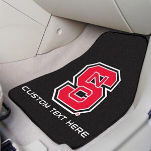 NC State Personalized 2-Pc Carpet Auto Mat Set