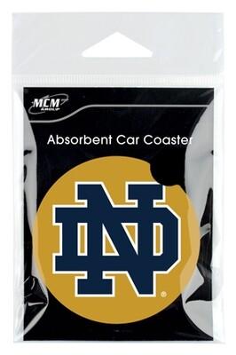 Notre Dame Absorbent Stone Car Coaster (Set of 2)