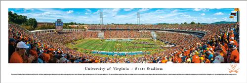 UVA Scott Stadium 50-Yard Line Panoramic Print