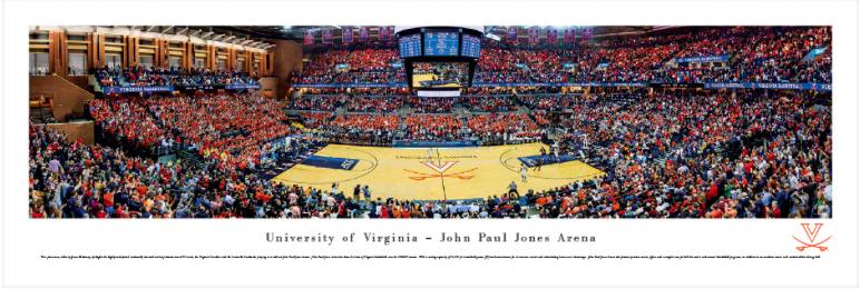 UVA John Paul Jones Basketball Arena Panoramic Print 3303