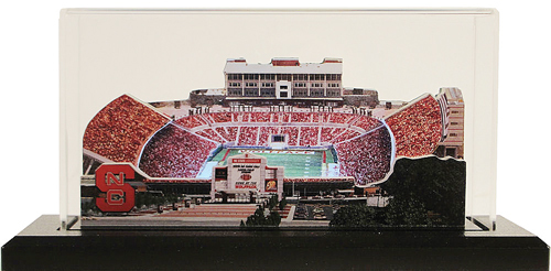 NC State Carter Finley Stadium Replica w/LED Lighting and Display Case 2060