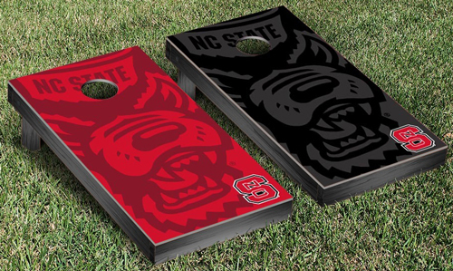 NC State Cornhole Game Set - Wolfpack Watermark Design 2162